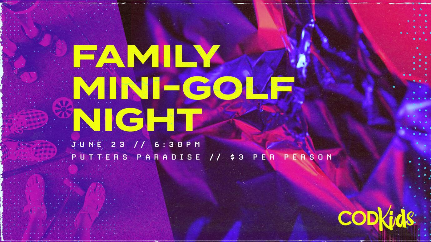 WYC COD Kids Mini Golf